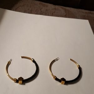 Vince Camuto black & gold earrings
